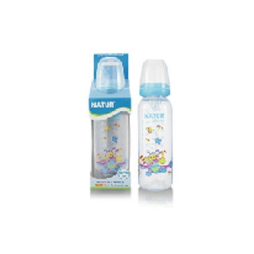 NATUR Blue Baby Feeding Bottle with size L nipple BPA Free 8 oz / 240 ml