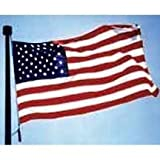 Lawn & Patio - 3 x 5 ft US United States Nylon Flag Embroidered stars - sewn stripes