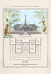 30 x 20 Stretched Canvas Poster Burmese Palatial Hall of Assembly