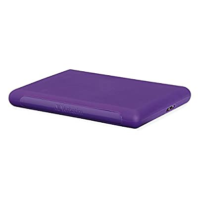 Verbatim 1 TB Titan XS Portable Hard Drive, USB 3.0, Purple (99023)