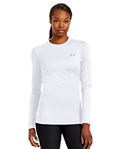 Under Armour Women's ColdGear® Fitted Long Sleeve Crew Large White