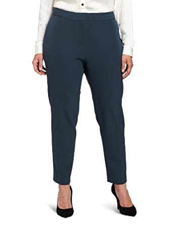 Kenneth Cole New York Women's Plus-Size Cigarette Pant, Petrol, 14