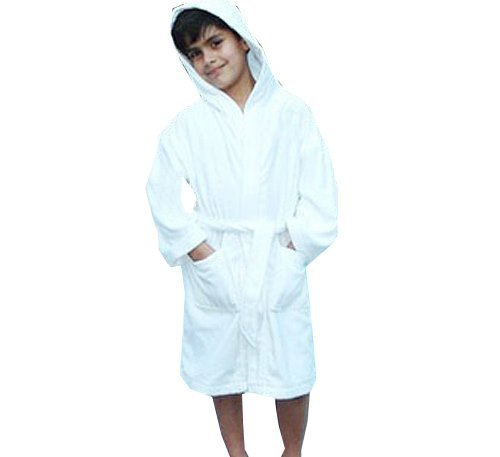 Kids Terry Hooded 100% Cotton Bathrobes - Youth Medium