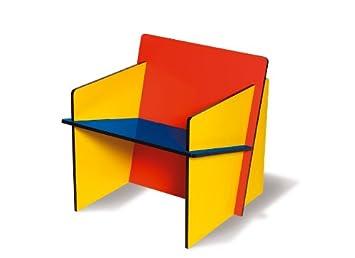 SELETTI bauchair silla de montaje en MDF, Madera, Negro/Azul/Amarillo/Rojo, 70x 7073cm