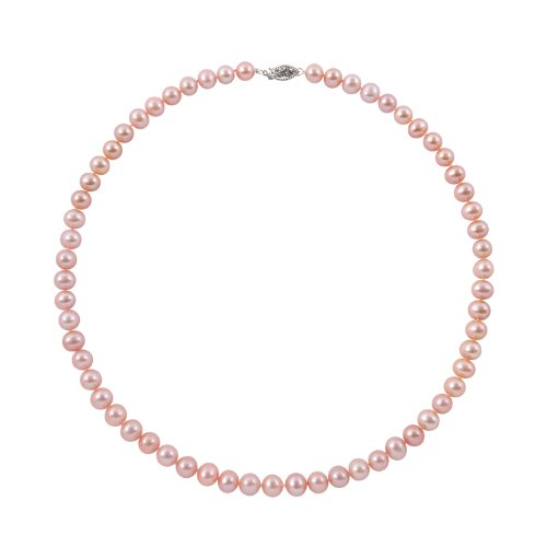 8-8.5mm 16-inch Pink Freshwater Pearl Necklace