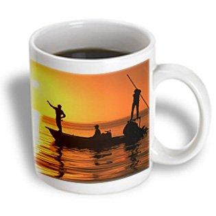 3Drose Flatboat Fly Fishing, Islamorada, Florida Keys, Ceramic Mug, 11-Oz