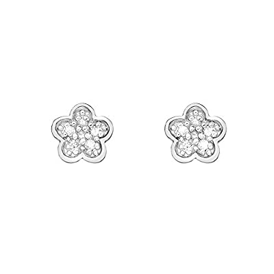 Hot Diamonds Stargazer Plated Sterling Silver Flower Earrings