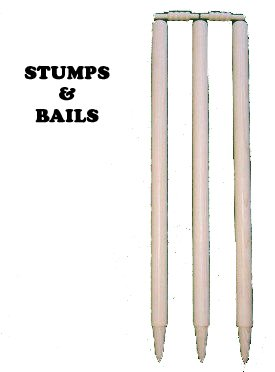 SET OF 3 FULL SIZE CRICKET WICKETS WOODEN STUMPS/ WICKETS FREE BAILS