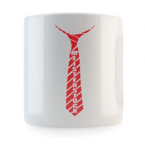 Meisterstück Schlips (mit individuellem Namen) Spardose, Druckfarbe:rot