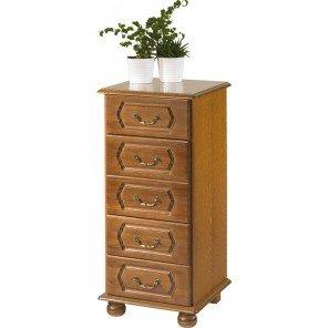 Beaux Meubles Pas Chers Rustic Oak Dresser with 5Drawers-