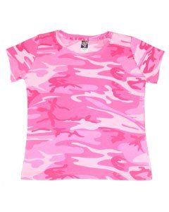 Code V Ladies' 4 oz. Fine Jersey Camouflage T-Shirt