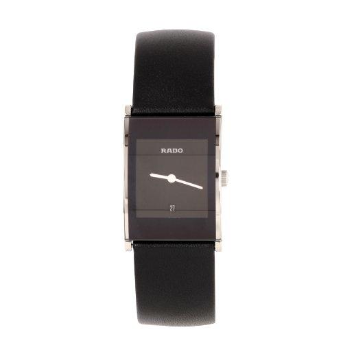 Rado  Integral M - Reloj de cuarzo unisex, con correa de cuero, color negro