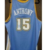 Signed Anthony, Carmelo (Denver Nuggets) Denver Nuggets Swingman Jersey autographed by Powers+Collectibles