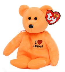 TY Beanie Baby - FLORIDA the Bear (I Love Florida - State Exclusive)