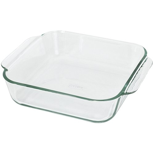 Pyrex Bakeware 8-Inch Square Cake Pan, Clear