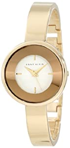 Anne Klein Women's AK/1082WTGB Gold Tone Curved Bangle Watch
