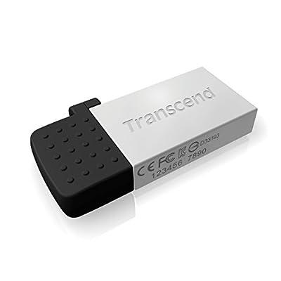 Transcend JetFlash 380 64GB USB 2.0 OTG Pen Drive, Silver