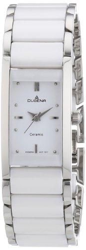 Dugena Dugena Basic 4460506 - Reloj analógico de cuarzo para mujer, correa de cerámica color blanco