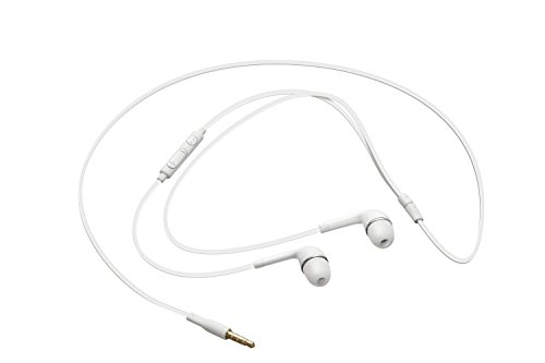 Samsung OEM 3.5mm Tangle Free Stereo Headset with Microphone for Samsung Galaxy S4/Galaxy S3/Note 3 – Non-Retail Packaging – White
