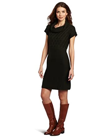 sweater dress with tall boots
