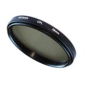 58MM Circular Polarizing Filter (CPL) for Kodak, Nikon, Canon & ANY Camera with a 58MM Filter Thread!