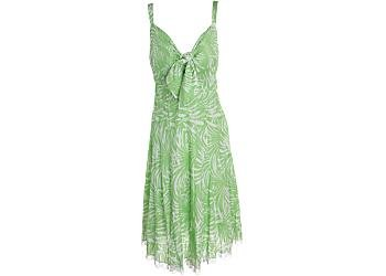 Buy Plus Vasna Lime Green Palm Print Dress