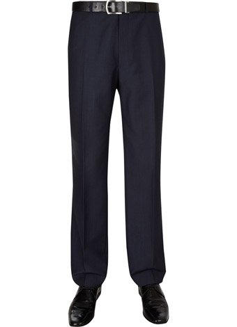 Austin Reed Contemporary Fit Navy Pinhead Trousers REGULAR MENS 30