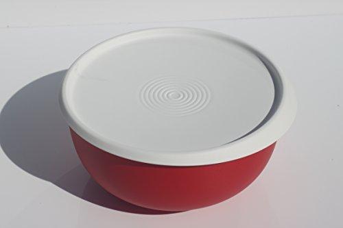 Tupperware Tupper Ergonomica Schüssel rot mit Deckel weiß verschiedene Größen (1300ml)