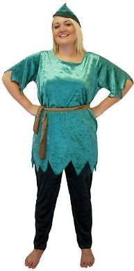 Pantomine-Fancy Dress-World Book Day-Neverland-Pan PETER Ladies Costume - From Plus Sizes 18-40 (Women: 22-24)