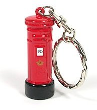 London Post Box Keyring Souvenir