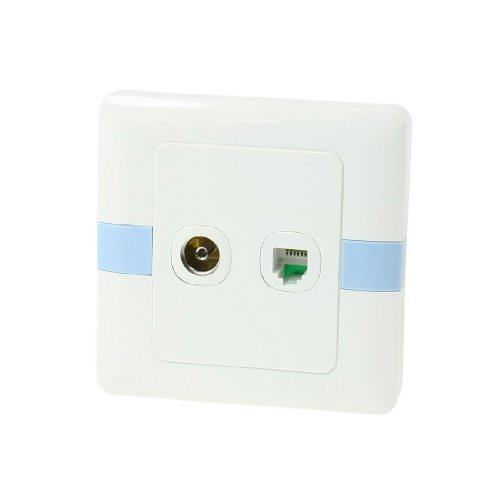 Square RJ12 6P6C Telephone PAL Female Jack TV Aerial Outlet Socket Wall Plate