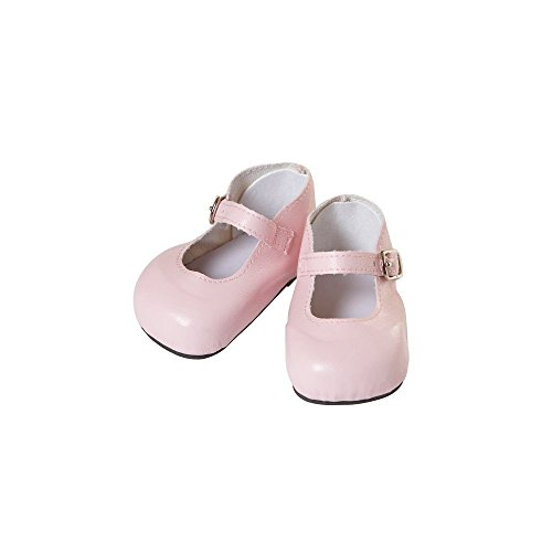 "20"" Doll Mary Jane Shoes in Pink - 1"