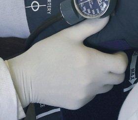 Exambie 734 Latex Exam Gloves, Small