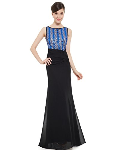 Ever Pretty Juniors Trailing Beaded Long Prom Dress 8 Us Black