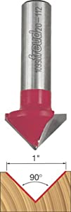 Freud 20-112 1-Inch Diameter 90-Degree V-Grooving Router Bit with 1/2-Inch Shank