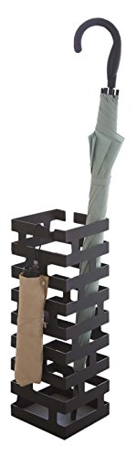 Hang or Stand Modern Umbrella Rack in Black Finish