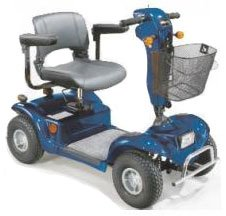 Mobility Aids Odyssey 4 Wheel Scooter, Full Size-Blue