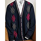 Argyle Cotton Long Sleeve Cardigan