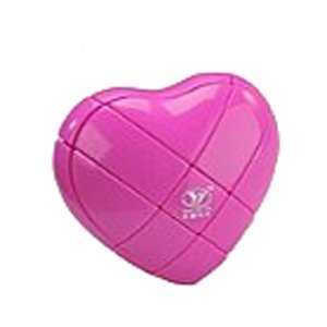 YJ 3x3x3 Love Heart Brain Teaser Speed Cube Puzzle Pink - 1