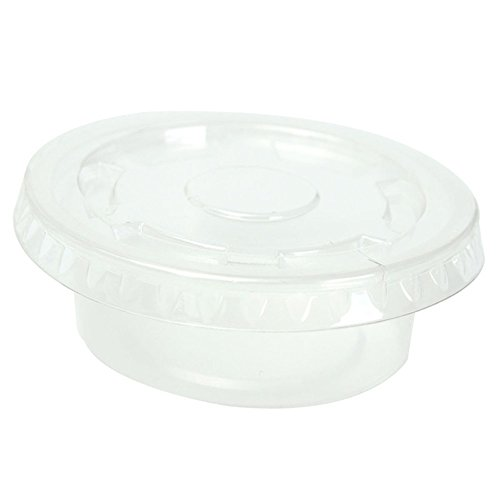 Food Storage Containers with Lids, Disposable Plastic Chutney Cups, Leak Proof, Stackable, Round Containers Transparent, 50 Pack (2 Ounce) (Small Vacuum Oven compare prices)