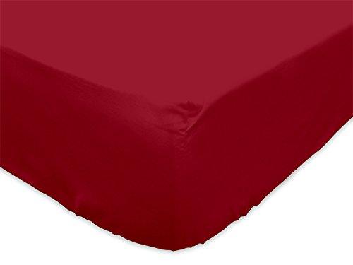 Lenzuolo con angoli in tinta unita 90 x 190 cm ATMO rosso