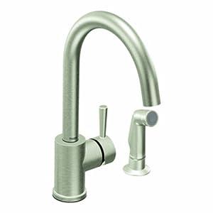 Moen 7106csl level one handle high arc kitchen faucet for Kitchen faucet recommendations