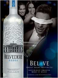print-ad-for-2010-belvedere-vodka-believe-man-blindfolded-scene
