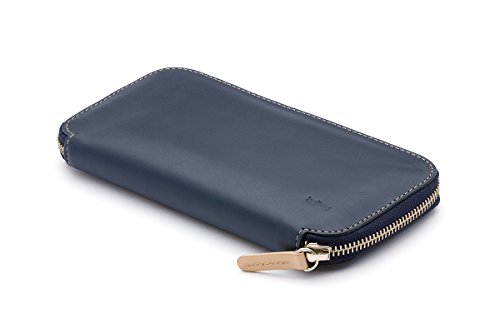 Portafoglio Bellroy Carry Out in pelle Blue Steel
