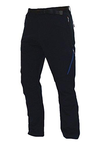 Goritz Mirnock - Pantalón para mujer, color negro / azul rey
