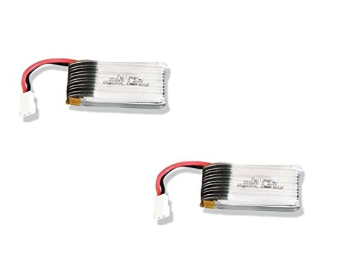 2 X Quantity Of Hubsan X4 H107D 3.7V 350Mah 25C Lipo Battery - Fast Free Shipping From Orlando, Florida Usa!