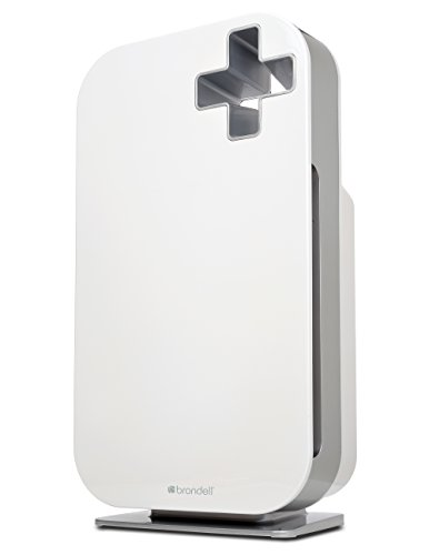 Brondell O2+ Source Air Purifier with True HEPA and Carbon Filtration for Odor and VOCs (White)