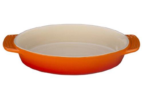 Le Creuset Stoneware Oval Dish, 1-Quart, Flame