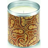 Aunt Sadie's Light Brown Paisley Candle