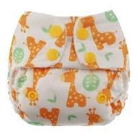 Blueberry Mini Deluxe Cloth Pocket Diaper, Giraffe